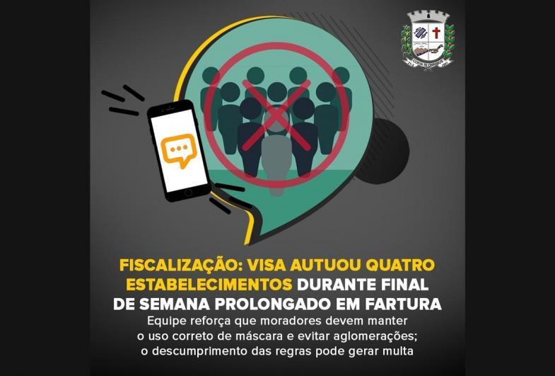 Fiscalização: VISA autuou quatro estabelecimentos durante final de semana prolongado em Fartura