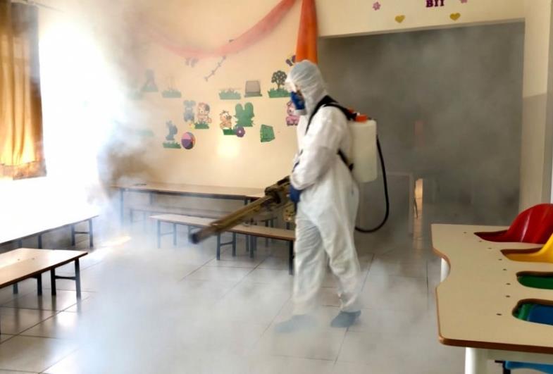 Higiene e prevenção: Escolas da rede municipal de Fartura recebem sanitização