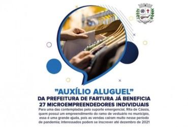 Auxílio da Prefeitura de Fartura contempla 27 microempreendedores individuais