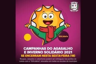 Campanhas do Agasalho e Inverno Solidário 2021 se encerram nesta sexta-feira (18)