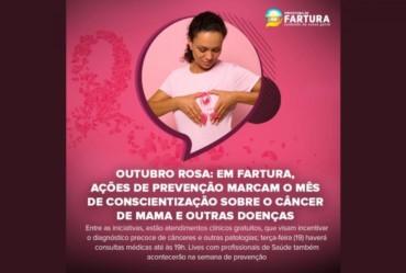 Outubro Rosa: Em Fartura, ações de prevenção marcam o mês de conscientização sobre o câncer de mama e outras doenças