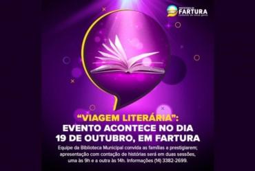 """""""Viagem Literária"""": evento acontece no dia 19 de outubro, em Fartura"""