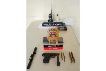 POLÍCIA CIVIL PRENDE HOMEM POR POSSE ILEGAL DE ARMA DE FOGO EM AVARÉ