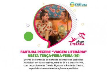 """Fartura recebe """"Viagem Literária"""" nesta terça-feira-feira (19)"""