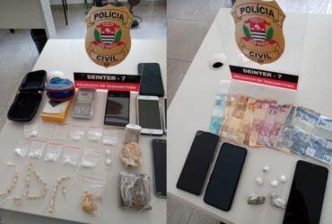 Dois homens são presos por tráfico de drogas em Taquarituba