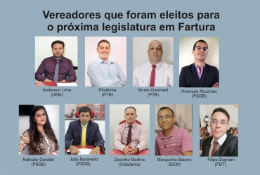 Vereadores que foram eleitos para o próxima legislatura